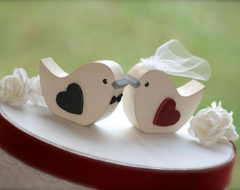 Love Birds Wedding Cake Topper Rustic Wedding Woodland Wedding Bird