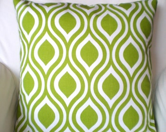 Green Pillow Covers, Decorative Throw Pillows, Cushions, Throw Pillow, Pillows for Couch, Decorative Pillow, Nicole, One or More All Sizes
