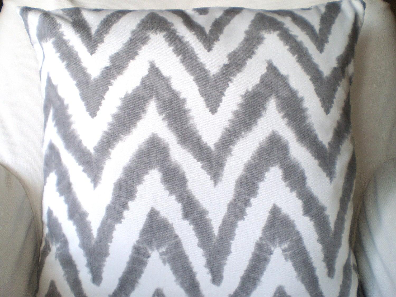 Gray Decorative Throw Pillows : Gray Chevron Pillow Covers Decorative Throw by PillowCushionCovers