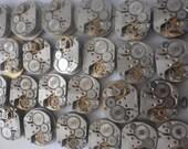 Watch Parts Lot - 100 Watch Movements Steampunk - Vintage Soviet Mechanisms  Wrist Watches - 15  mm USSR