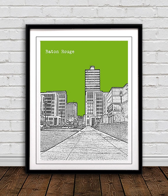 home decor stores baton rouge baton city skyline print city poster great gift 12435