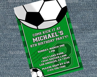 Soccer Invitations - Futbol birthday party invites