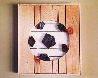 Wooden Soccer Sign from Reclaimed Wood