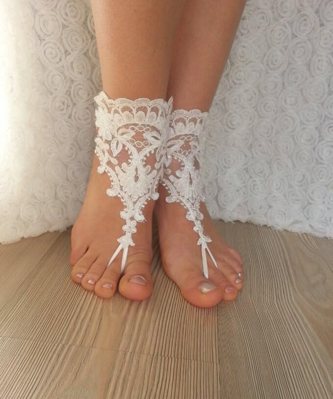 bridal fu kettchen wei e strand hochzeit barfuss sandalen. Black Bedroom Furniture Sets. Home Design Ideas