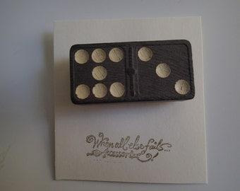 Vintage Domino pin/brooch.  Love!
