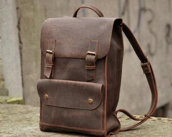 Handmade Leather Backpack Rucksack Travel Bag Genuine Leather