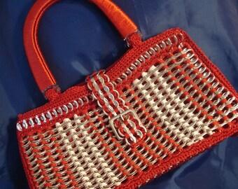 """Handmade Crochet Pop Tab Handbag """"Nana"""""""
