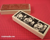 Pierrot Photo Strip Stamp / Invoke Arts Collage Rubber Stamps
