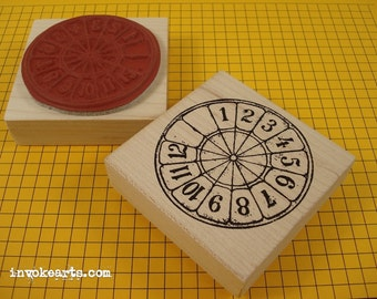 Lottery Wheel Stamp / Invoke Arts Collage Rubber Stamps