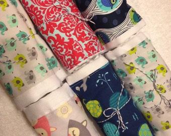Custom Organic Cotton Burp Cloth