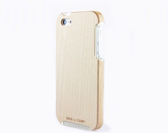 Wooden case for iPhone handcraft in France with french FSC wood, ultra slim and solid for and unique design
