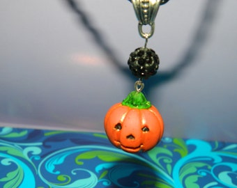Pendant  Jack-o'-lantern from polymer clay