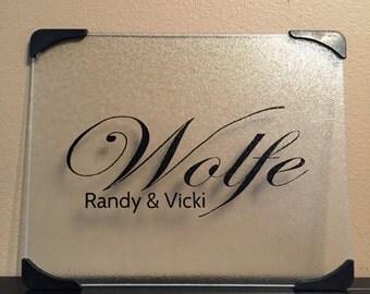 "Custom / Personalized Glass Cutting Boards - 12"" x 15"""