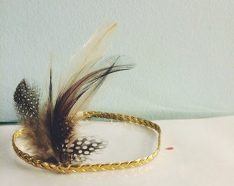 Boho Feather Headband, newborn headband, feather headband adult, baby feather headband, girls feather headbands, feather headband baby,