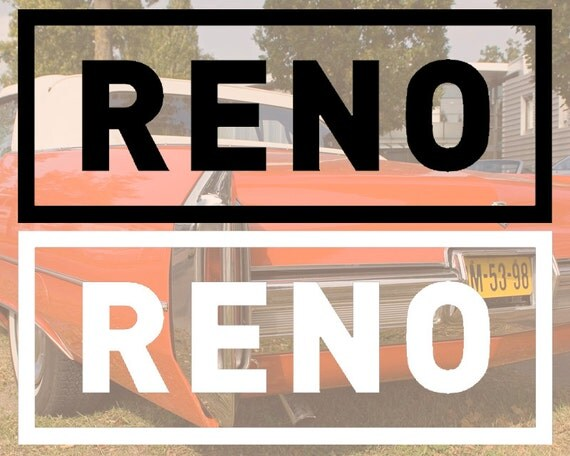 Items Similar To Reno Nevada Vinyl Waterproof Car Decal