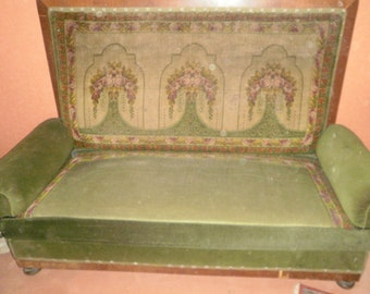 Huge antique Sofa 1880/1890,continental, Velvet