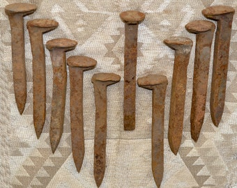 Engineer's Dozen! 13 Vintage Railroad Spikes SW Colorado for the price of 12.