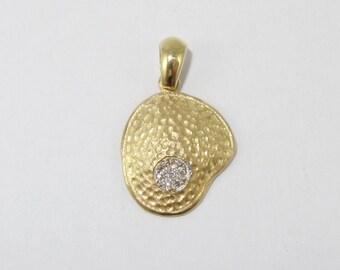 14kt Pendant, Diamonds,Yellow Gold