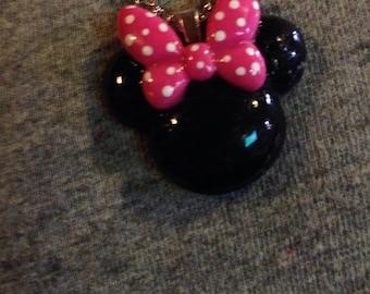 Minnie Mouse necklace mennie mouse jewelry -disney jewelry