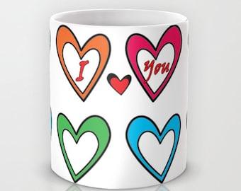 I Love You Mug, Love Mug, Valentines Day Gifts, Coffee Mug, Coffee Cup, You and Me, Heart Mug, Couple Mugs, Gift for Her, Gifts for Him
