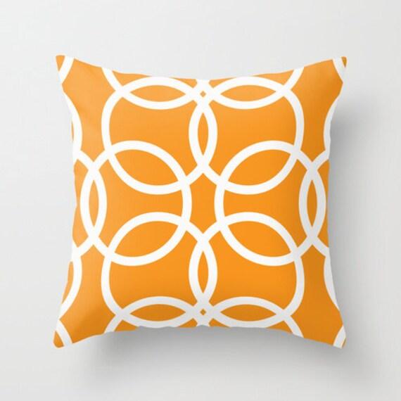 Items similar to Orange Pillow, Decorative Pillows, Colorful Throw Pillows, Sofa Pillows, Living ...