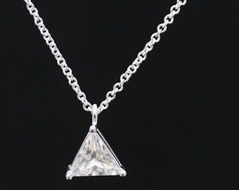 Triangle Cubic Zirconia Necklace