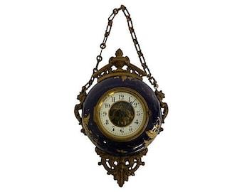 Antique French Napoleon III Boulangere Clock French Clock Antique Clock Pendant Clock Bronze Clock Tole Clock Paris Apartment French Antique