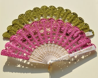 Fuchsia, moss green, baby blue, bloody red hand fan, photo prop, hand held fan, bridal bouquet alternative, spanish wedding prop, lace fan