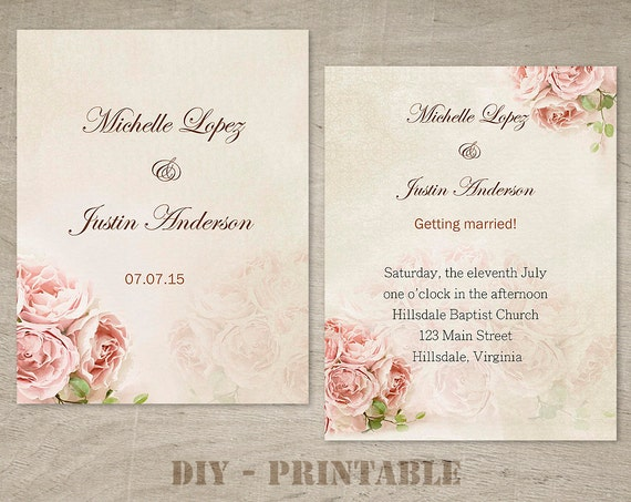 items similar to wedding invitation template wedding With wedding invitation templates docx