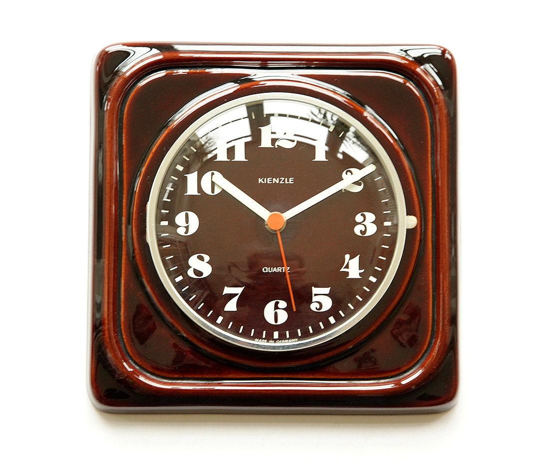 atomic 70s kienzle germany ceramic wall clock space age