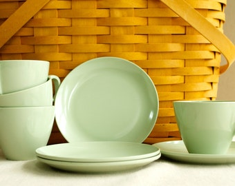 Boonton Melamine Cups and Plates - set of 4 each