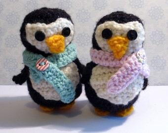 Penguin pair - amigurumi crochet - penguin couple - Christmas penguin - valentines penguins- vegan valentines gift- Penguin lovers