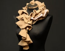 A luxurious cashmere , angora and lambswool stole neckpiece.