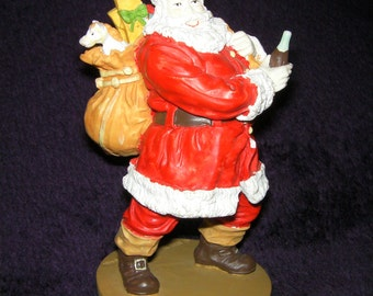 Vintage, Ceramic Christmas Coca Cola Santa Figurine, 1989