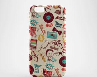 Pop Pattern Retro Phone case,  iPhone X Case, iPhone 8 case,  iPhone 6s,  iPhone 7 Plus, IPhone SE, Galaxy S8 case, Phone cover, SS123a