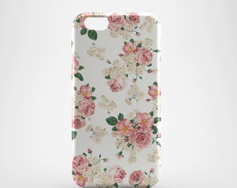 Antique Floral Roses Phone case,  iPhone X Case, iPhone 8 case,  iPhone 6s,  iPhone 7 Plus, IPhone SE, Galaxy S8 case, Phone cover, SS119a