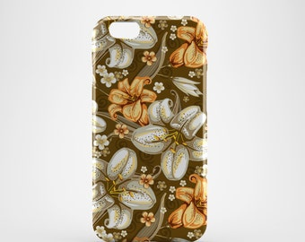 Oriental Lily Floral Phone case,  iPhone X Case, iPhone 8 case,  iPhone 6s,  iPhone 7 Plus, IPhone SE, Galaxy S8 case, Phone cover, SS127a