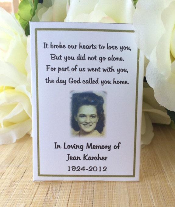 Memorial Gift Keepsake Favors