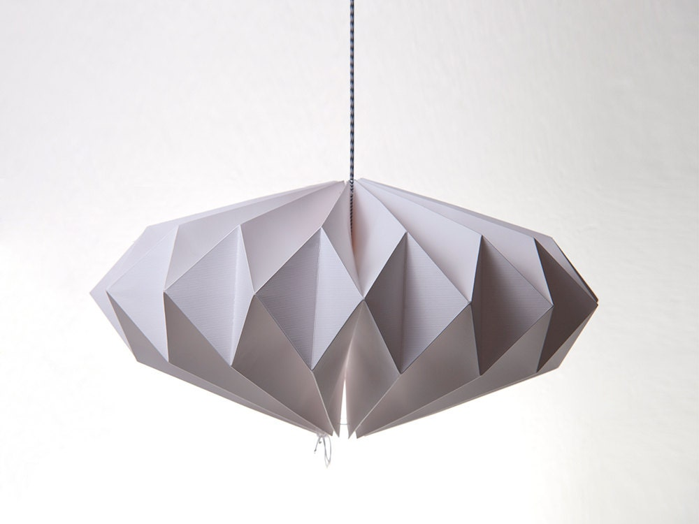 Origami paper lamp lampshade plis star xxl by lampshadolamps for Paper star lamp