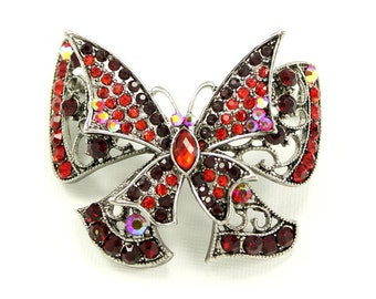 Butterfly Brooch, Red Butterfly Broach, Pin Jewelry, Butterflies Jewelry, DIY Project Craft Embellishment