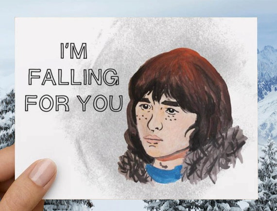 "Bran Stark ""I'm falling for you"" Game of Thrones Funny Love Card"