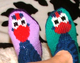 Pukeko Slippers for Adults and the older child