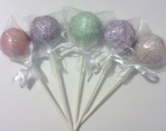Party Cake Pops - Colorful Sugar Sprinkles, 1 Dozen
