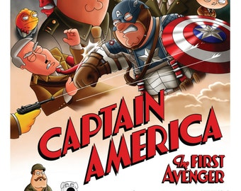 Captain America - Family guy and American Dad Parody (A3)
