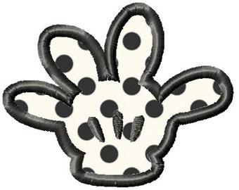 Machine Embroidery Design - MICKEY GLOVE HAND Applique - Instant Download-3 Sizes
