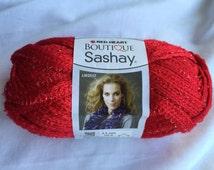 RED Sashay Ruffle Scarf Yarn/  Red Heart Boutique Sashay Ruffle Scarf Yarn