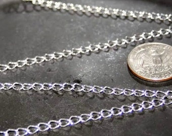 20ft silver chains,Large silver chain,chunky silver chain,large chains,silver nickel free chains,kette silver,6x4x1mm