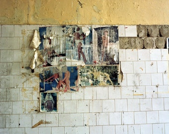 Wall, paper and tiles