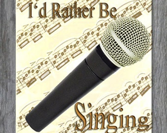 Mouse Pad - I'd Rather Be Singing