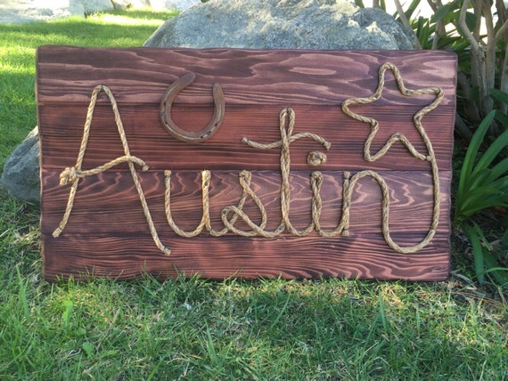 """Western Wedding Gift Ideas: Items Similar To 32"""" Personalized Wood Sign Western Decor"""